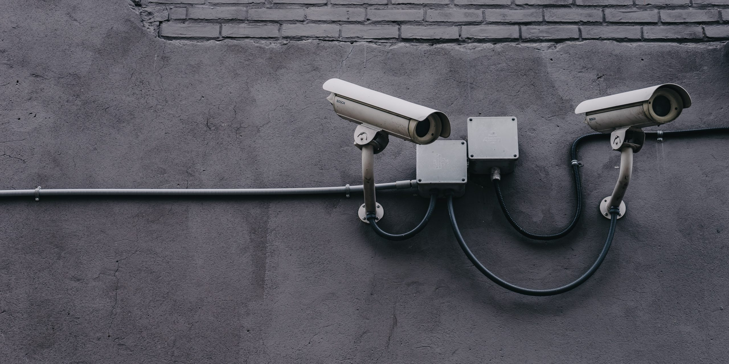 Picture of two outside security camera's