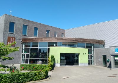 Picture of the entrance of the Sportcentrum de Pit building