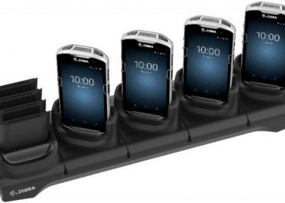 Image of the Zebra TC5 with 4 mobile phones in it