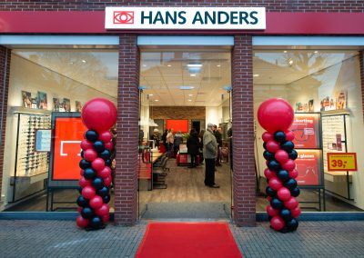 Photograph of the entrance of a Hans Anders shop