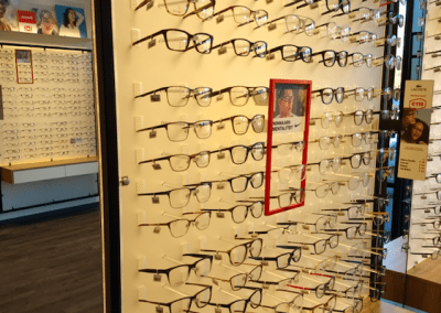 Photograph taken of some glasses inside of a Hans Anders shop