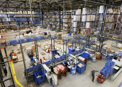 Photograph taken inside of the Quantore warehouse